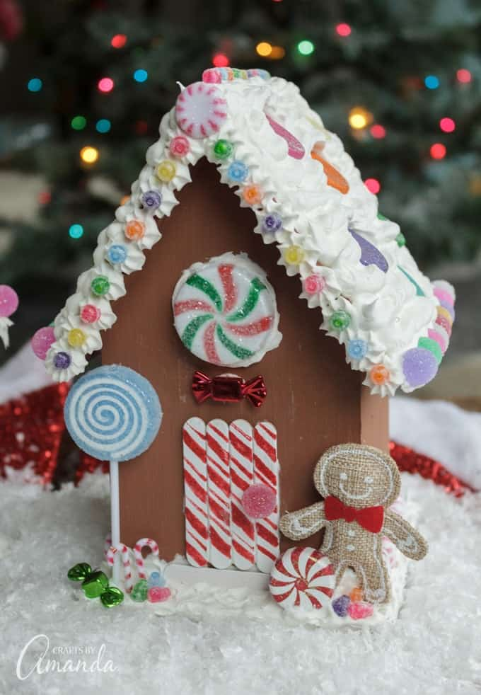 Non-Edible Gingerbread Houses