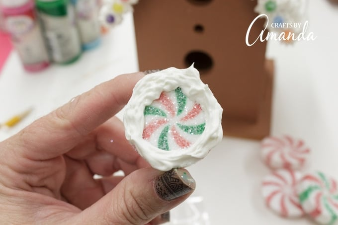 Use Collage Clay to add your plastic candy embellishments.