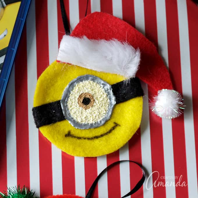 Close up minion ornament