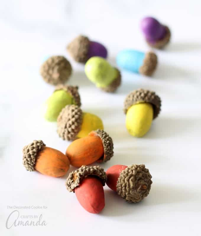 Dress up any table or bowl with these painted acorns