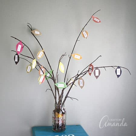 Making a thankful tree during the Thanksgiving season is easy to do and makes a great project to involve the kids in. Your thankful tree also serves as lovely decor for your home during the holidays.