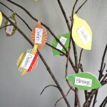 Teaching kids about being thankful (and reminding adults!) is an easy task when you have something fun and interactive like this thankful tree you can make at home.