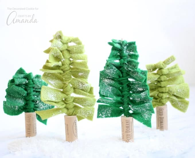 These felt Christmas trees have such a simple, modern feel, and you can make as big or small of a forest as you like.