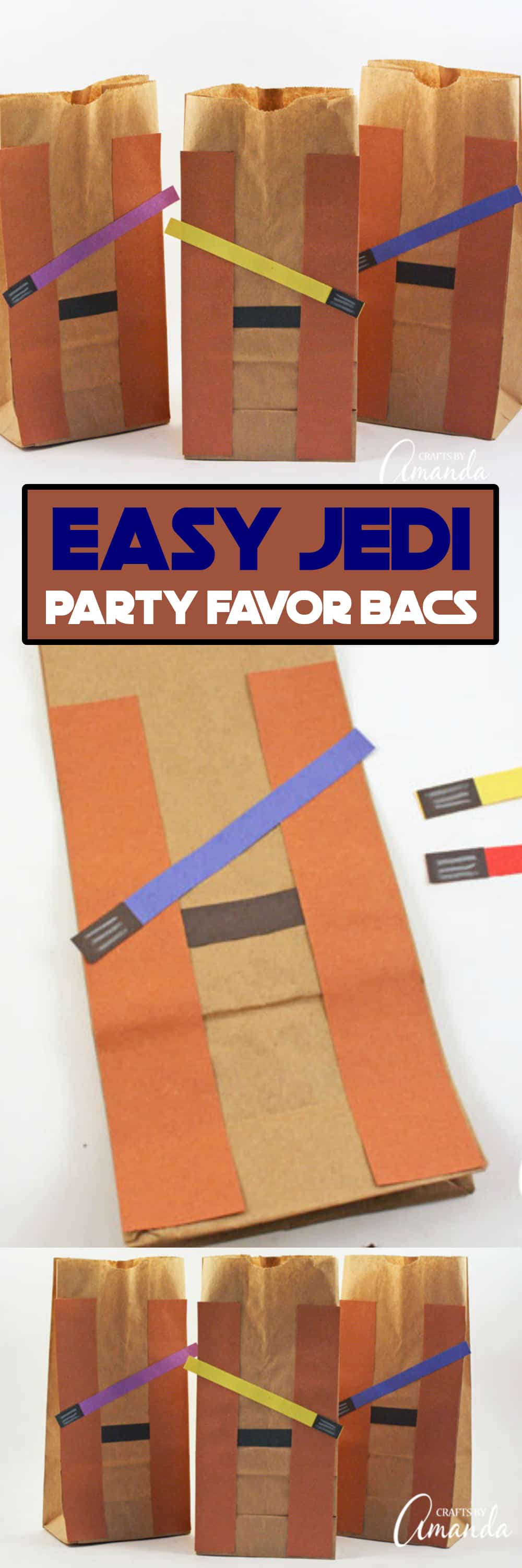 Star Wars the Last Jedi is breaking records and it's guaranteed there will be plenty of Star Wars birthday parties this year. Make these Jedi party favor bags for your guests!