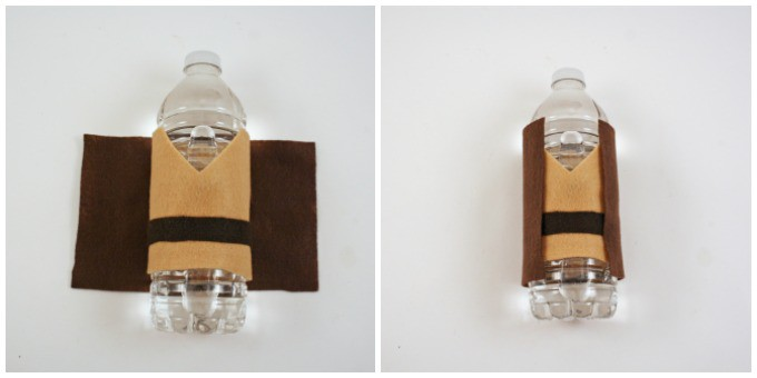 How to make jedi water bottle covers