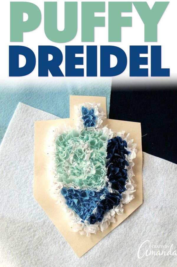 Puffy Dreidel Craft
