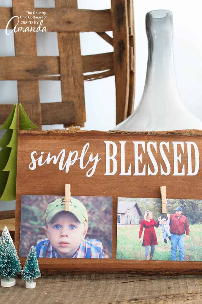 Make an adorable DIY rustic wood frame as this years Christmas gift for grandma and grandpa or any special person in your life!