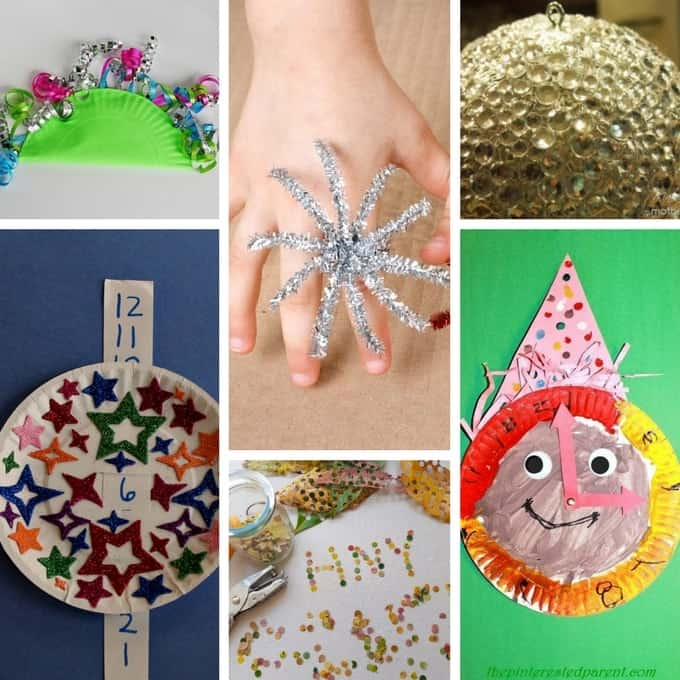 There are tons of easy kid-friendly New Year's Crafts to do!