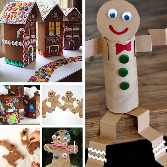 gingerbread crafts collage