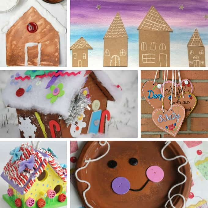 kid friendly gingerbread crafts collage