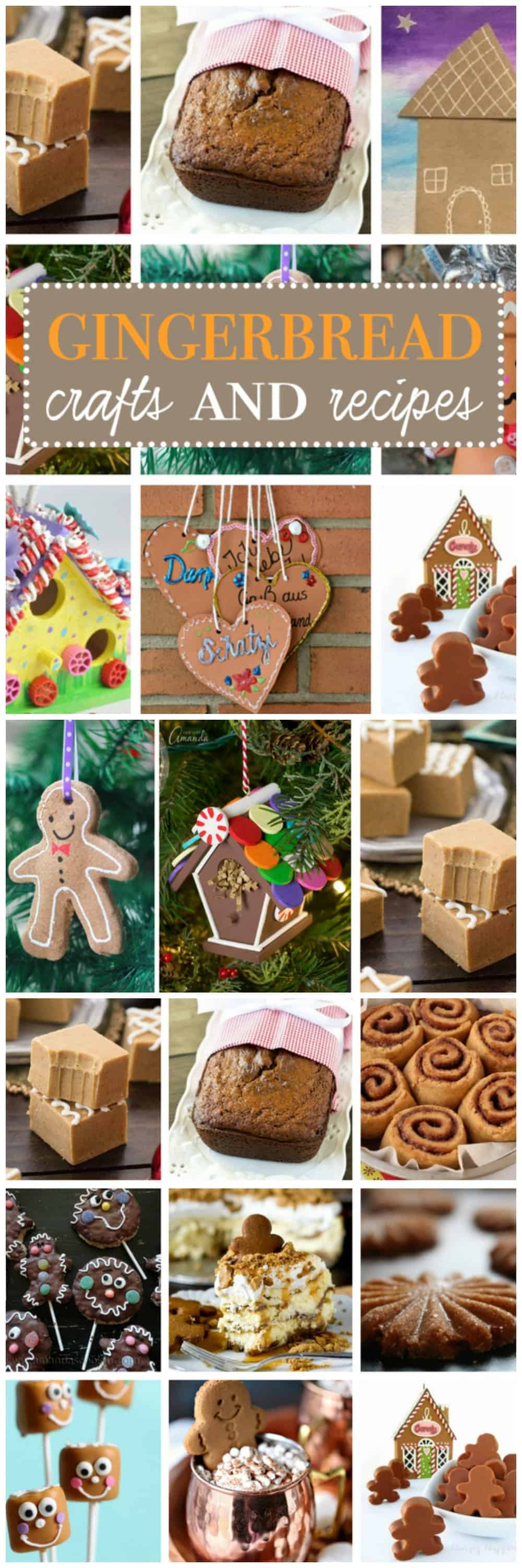 Gingerbread crafts are a whimsical addition to your holiday line-up, and today we've collected 30 Unique Gingerbread Ideas from edibles to crafts!