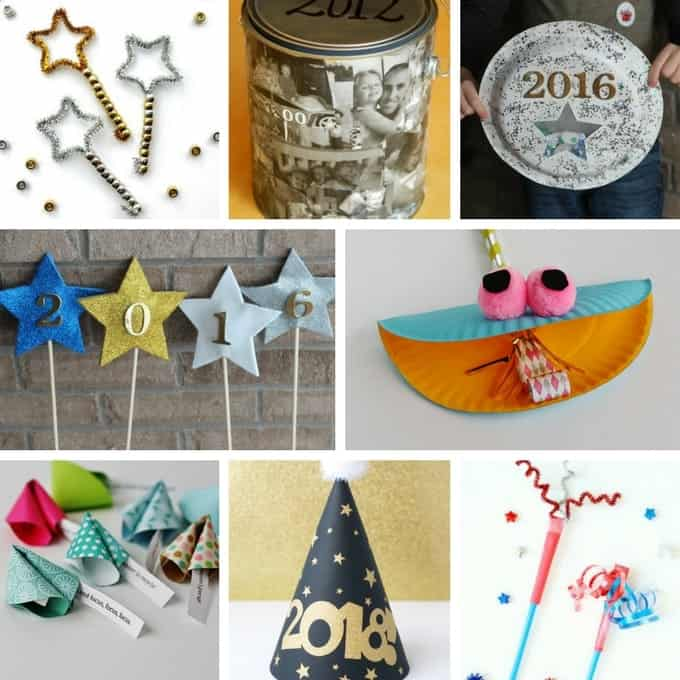 Easy DIY New Year's Crafts for kids!