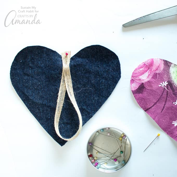 How to make a Heart Garland Step 5- adding holder