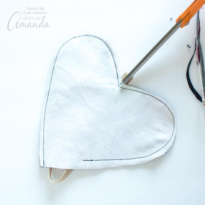 How to make a Heart Garland Step 9
