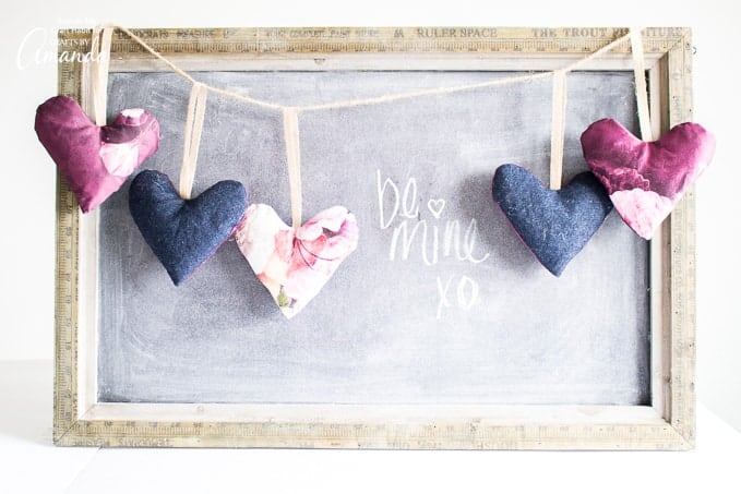 A simple sewing craft for Valentine's Day: DIY Heart Garland