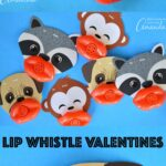 These funny lip whistle valentinesare a fun printable that allow even the youngest students to share silly valentines with their classmates.
