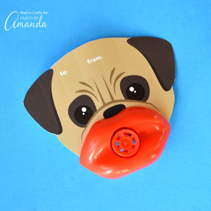 Funny Lip Whistle Valentines- Dog