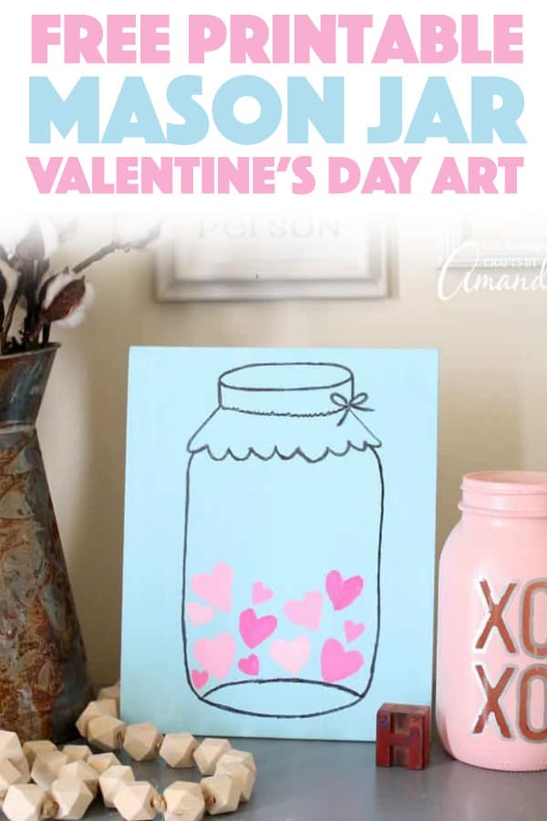 image about Printable Mason Jar named Mason Jar Valentines Working day Artwork: straightforward and lovable Valentines Working day