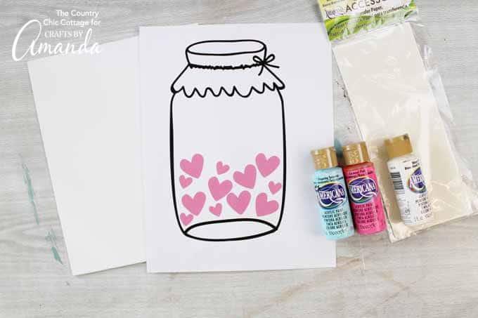 How to make a mason jar Valentine's Day art!