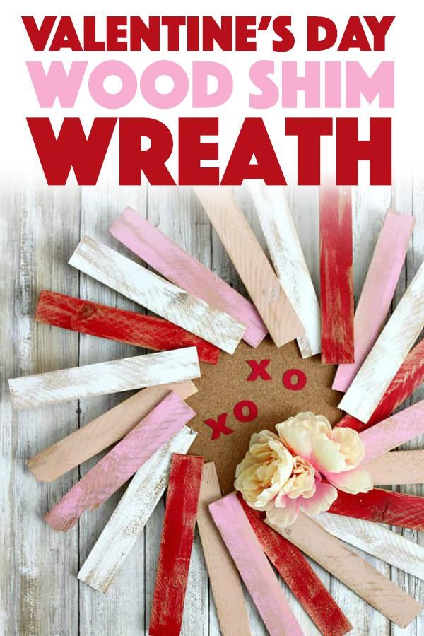 Valentine's Day Wood Shim Wreath