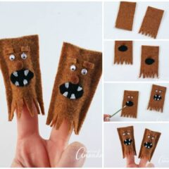 Adorable Wookiee Finger Puppets for creative play with kids!