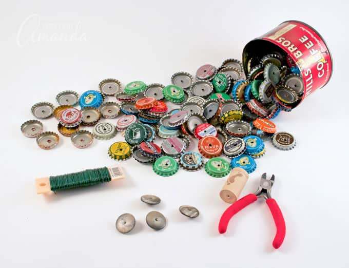 Supplies for bottle cap horse