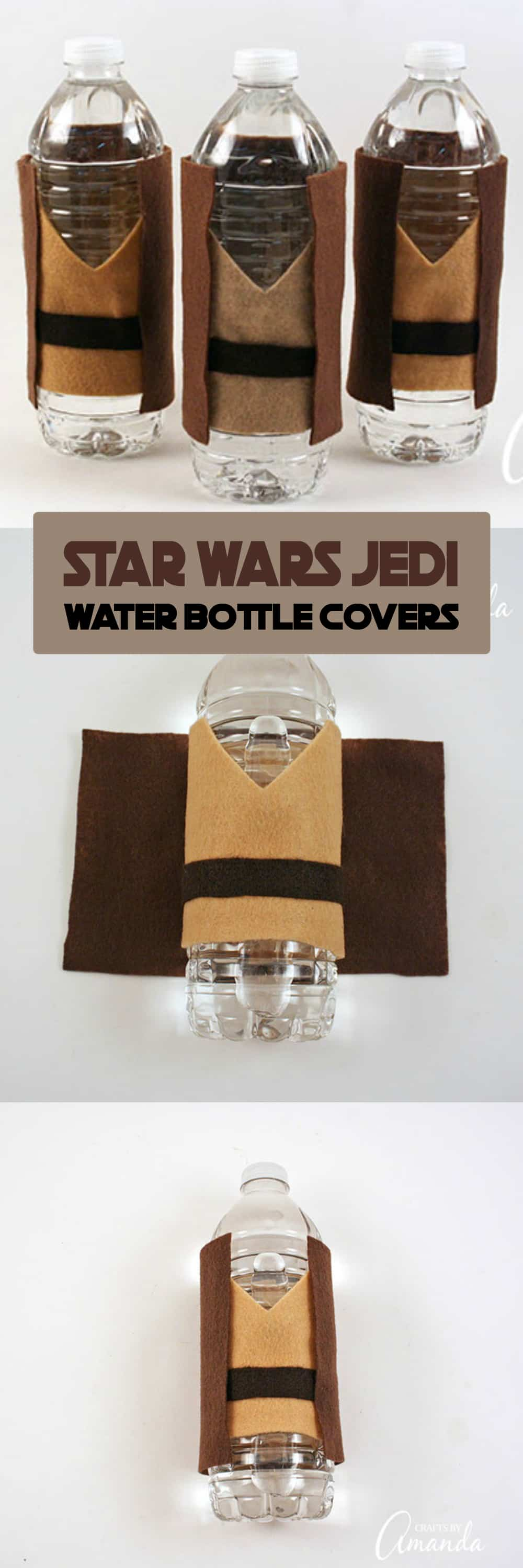 A Star Wars party wouldn't be complete without water bottles decked out in Jedi robes! These Jedi Water Bottle Covers are great for a release day party or birthday party!