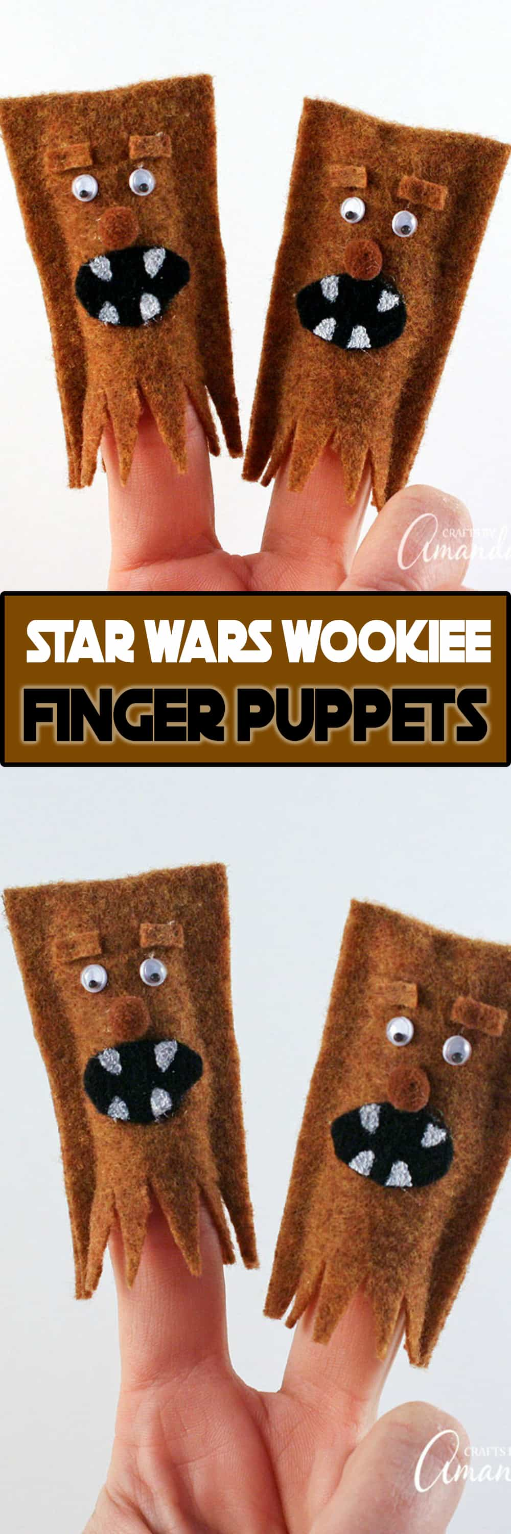 Wookiee Finger Puppets