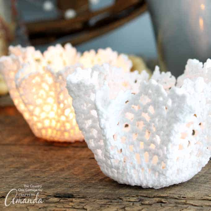 Doily Tea Light Holders Tutorial