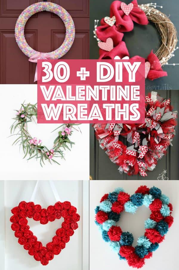 30+ Valentine Wreaths