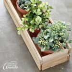 You won't believe how easy it is to make this wood shim planter box, no power tools required! You can leave this project as bare wood, or paint it whatever color you like. There's always room for creativity!