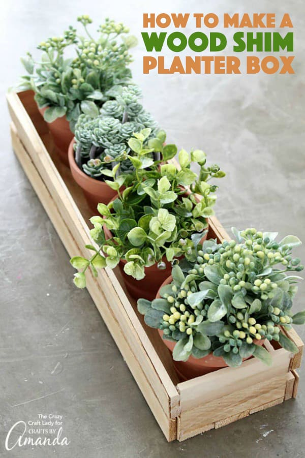 Wood Shim Planter Box