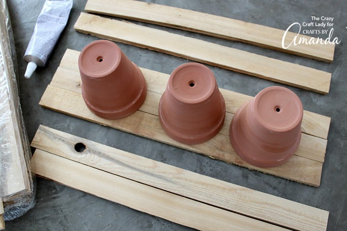 How to make a wood shim planter box step 1