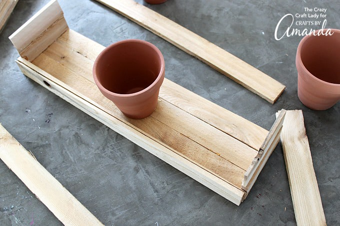 How to make a wood shim planter box step 4