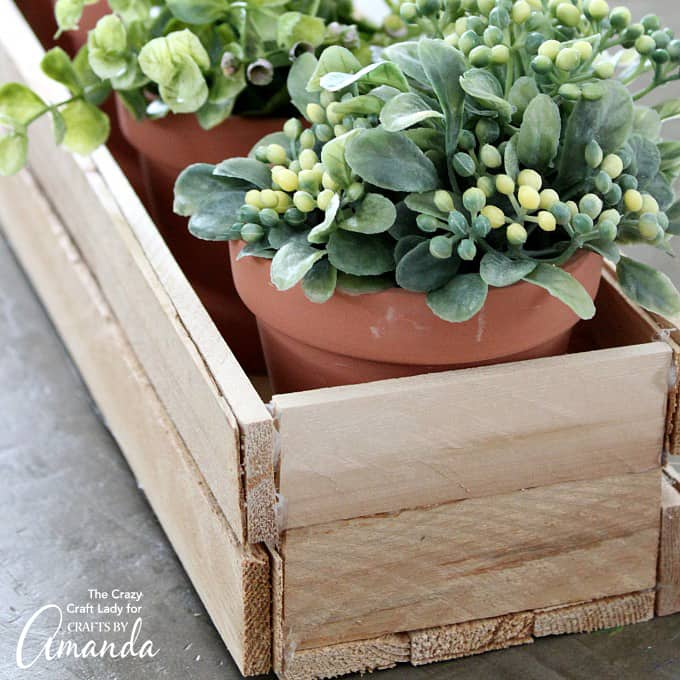 Cute Wood Shim Planter Box
