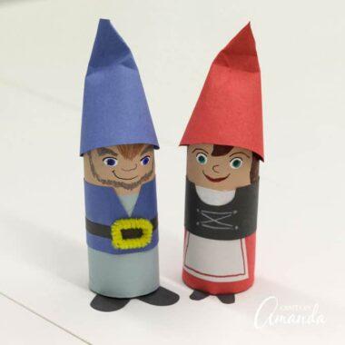 Cardboard Tube Gnomes craft