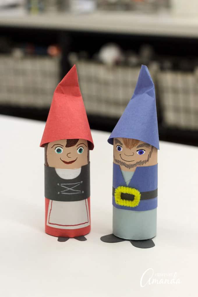 Sherlock Gnomes - cardboard tube gnomes