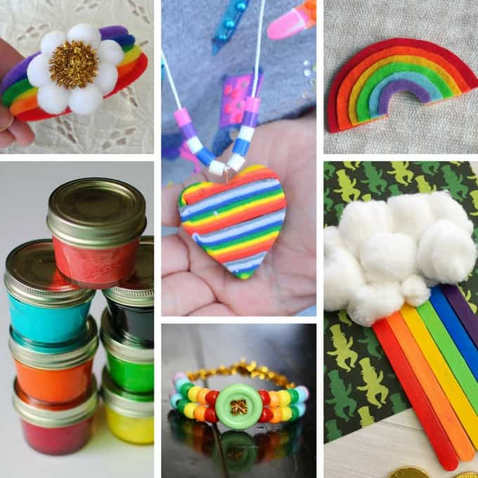 Easy Rainbow Crafts for Kids- St. Patrick's Day