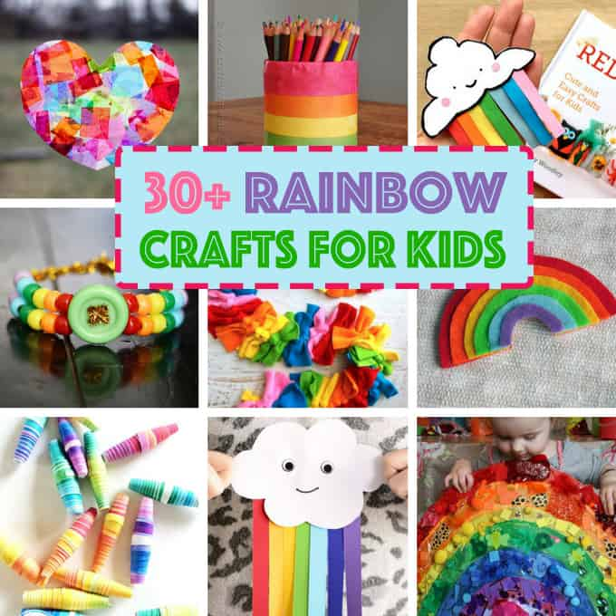 Rainbow Crafts for Kids- St. Patrick's Day crafts