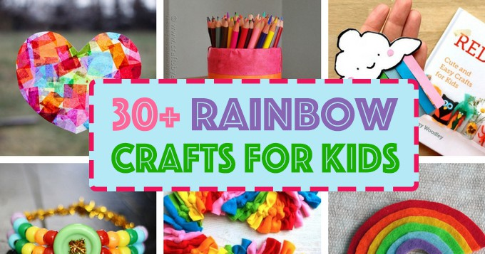 Rainbow Crafts For Kids 30 Rainbow Crafts For St Patrick S Day