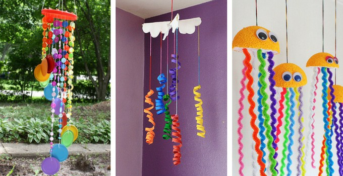 Pretty rainbow mobile- rainbow crafts for kids
