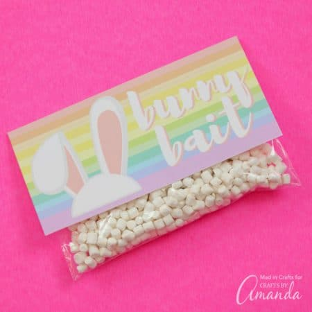 Get your kids excited for Easter by printing off this Bunny Bait Printableto make sure the Easter Bunny stops by your home! These treat bags are fun and simple to assemble so make enough for all your friends and family this Easter!