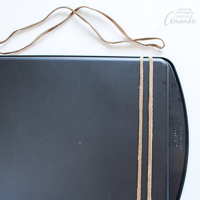 How to make a cookie sheet magnetic board step 13