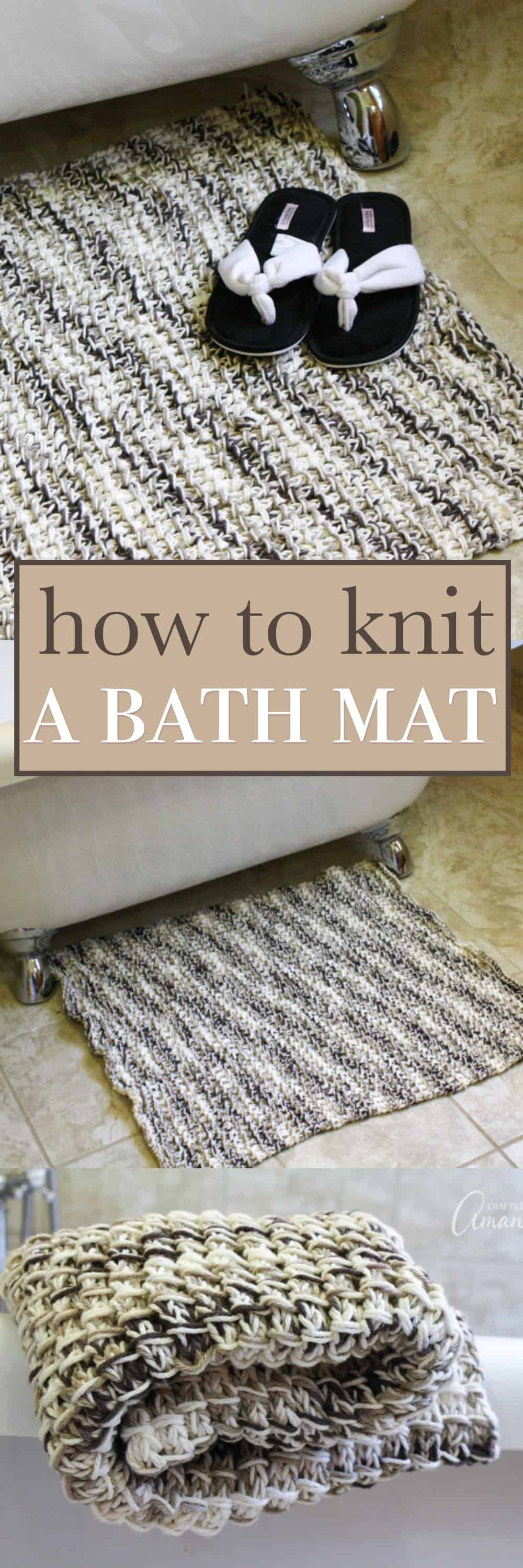 Knit Bath Mat Try Your Hand At This Easy Bamboo Stitch To Make A Diy Rug
