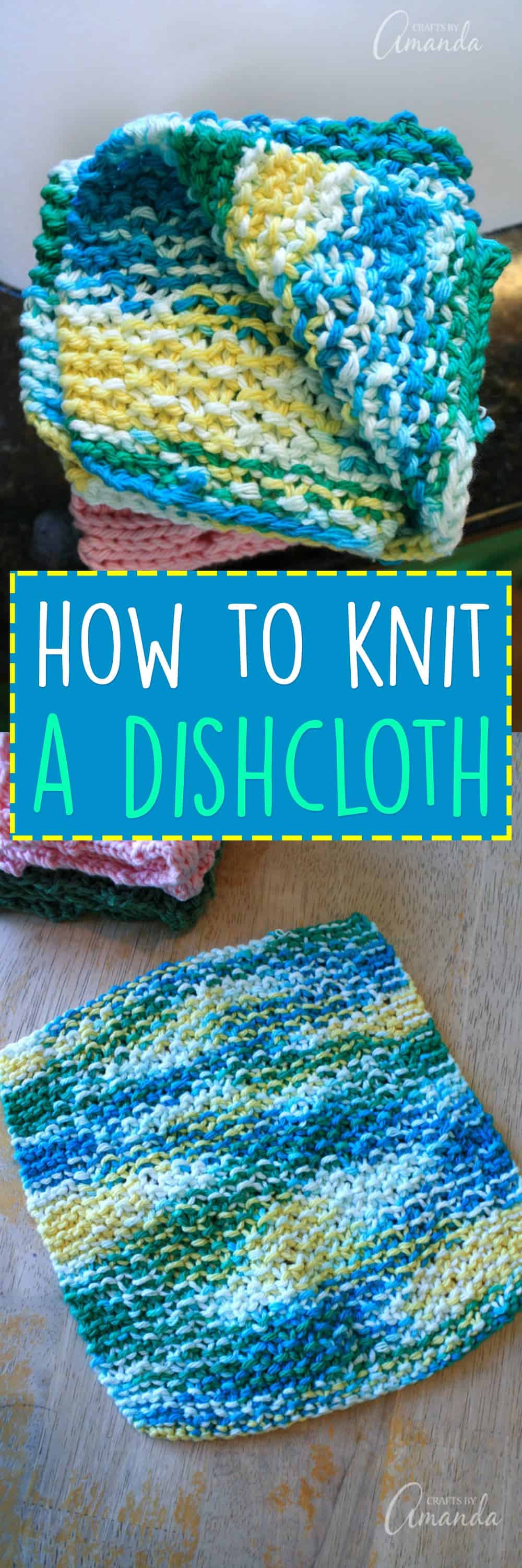 Do you remember being at your grandma's house and she always had at least one knit dishcloth sitting by the sink or on the counter? With this dishcloth knitting pattern you can make your own and knit some extra ones to give as gifts!