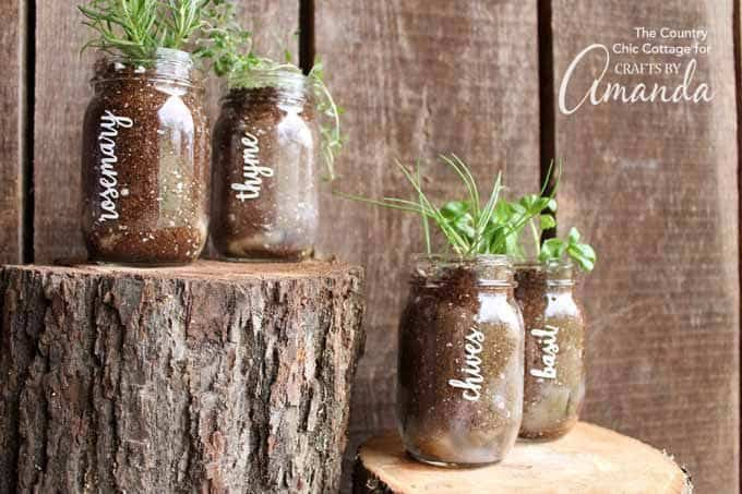 If you love all things rustic and farmhouse, a mason jar herb garden is just waiting for you.