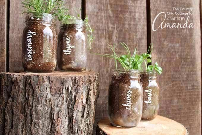 Mason Jar Herb Garden Grow Herbs In A Jar Crafts By Amanda