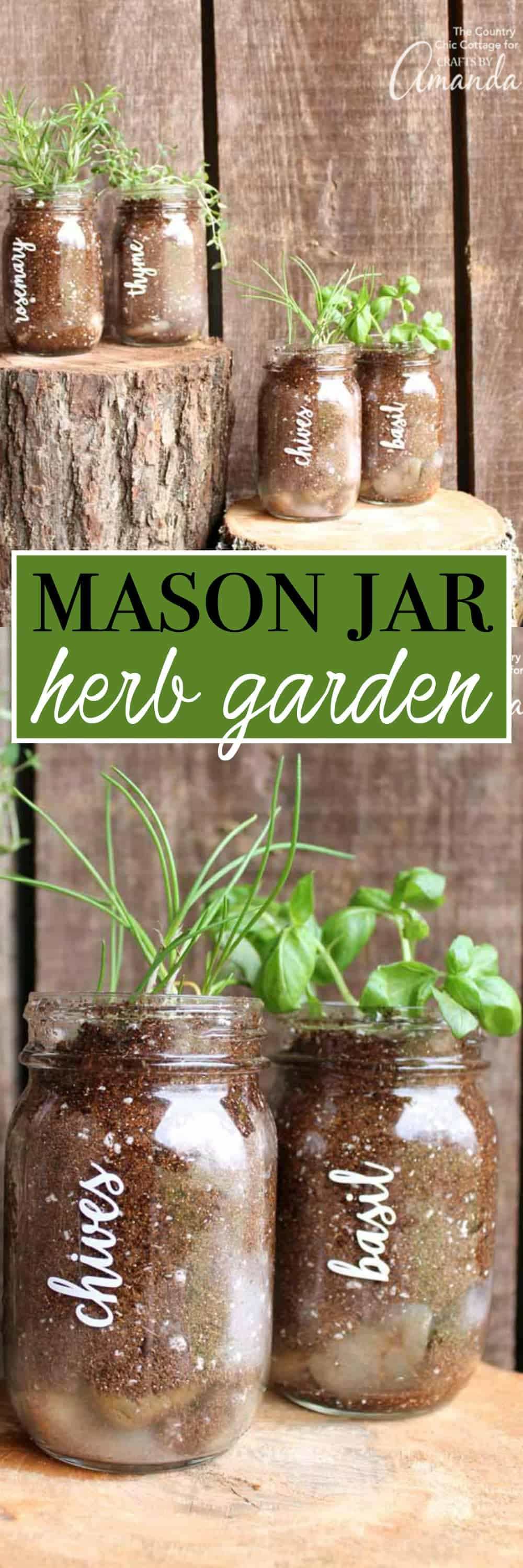 This Quick And Easy Mason Jar Herb Garden Is A Great Addition To Your Porch  Or