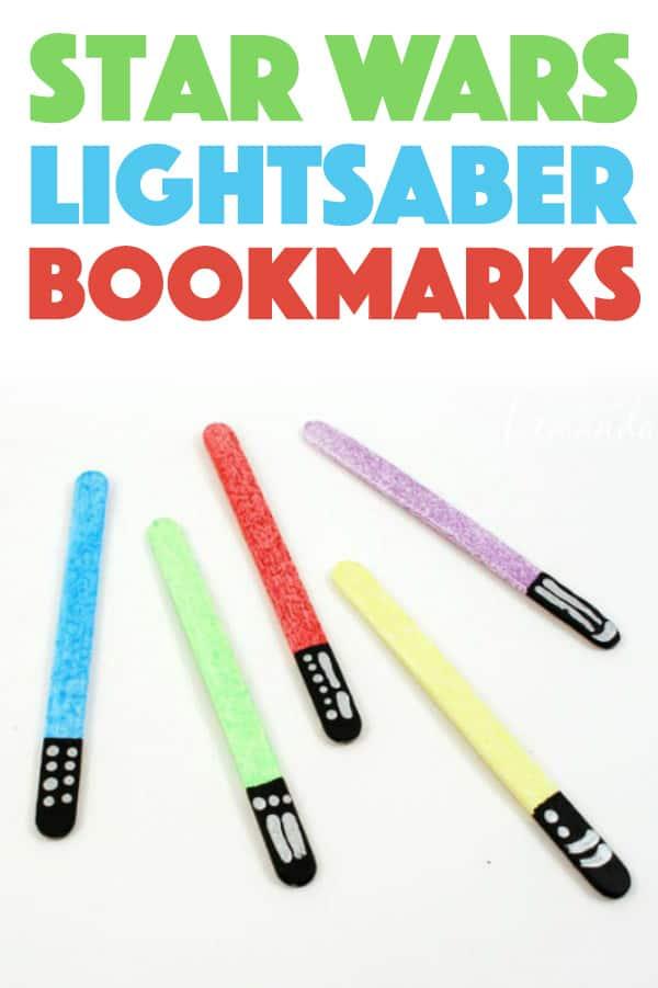 DIY Star Wars Lightsaber Bookmarks