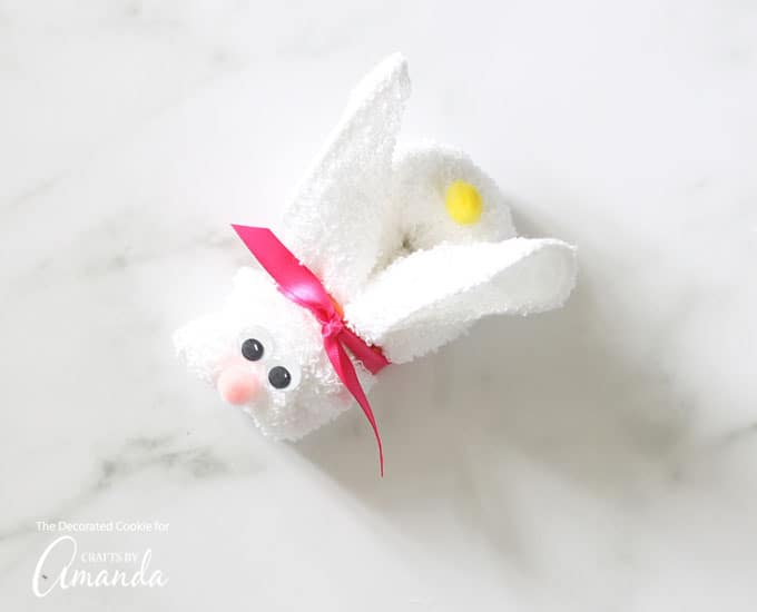 How to make a Washcloth Bunny step 6